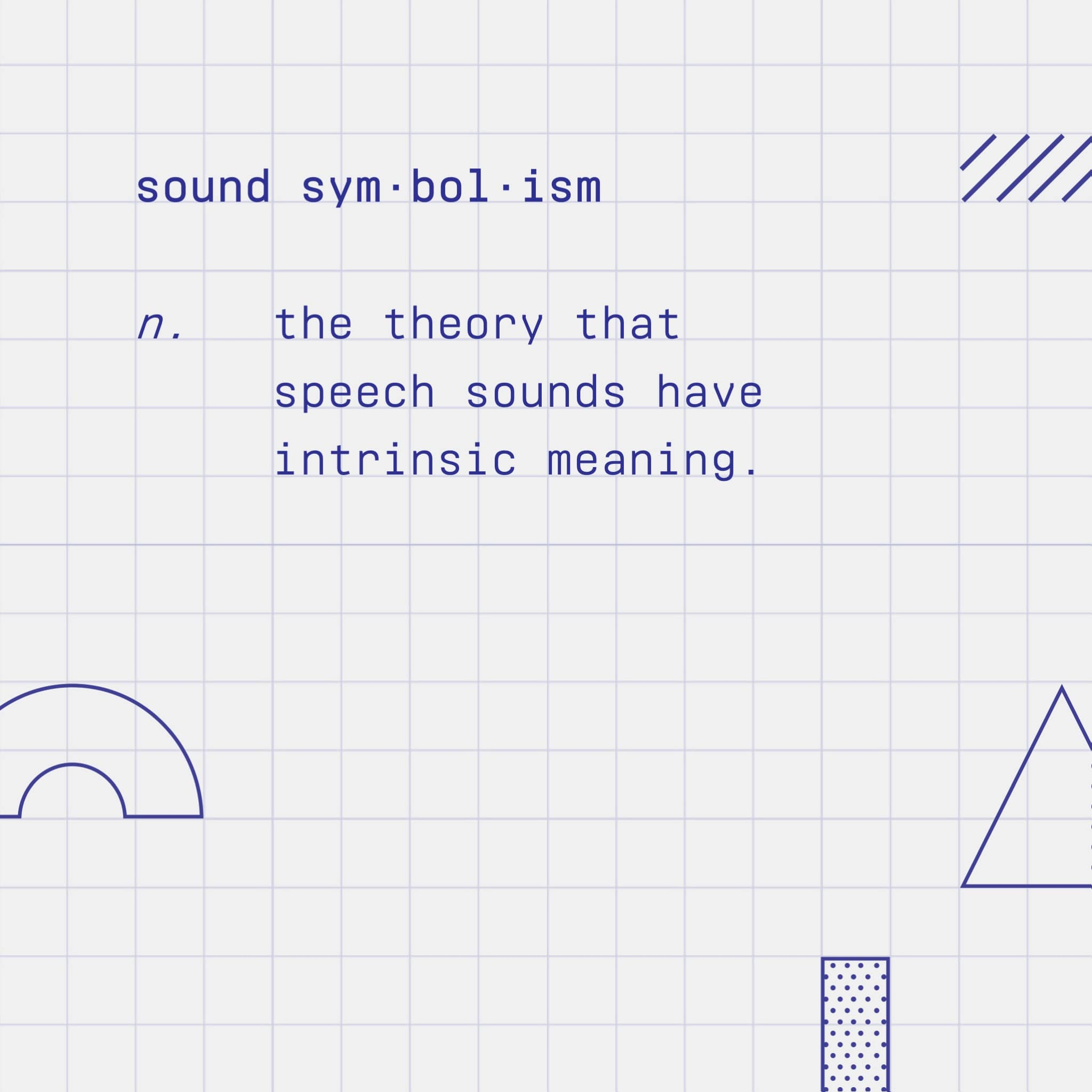 Sound symbolism definition