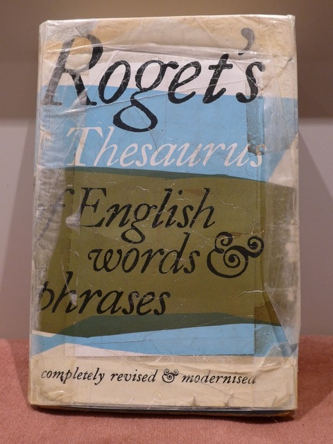 Clive Chafer's well-used Roget's Thesaurus