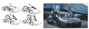Lamborghini's scissor doors