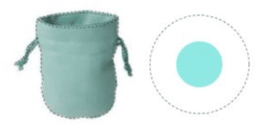 Tiffany drawstring bag and key ring