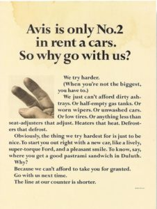 "Avis ""We try harder"" ad"