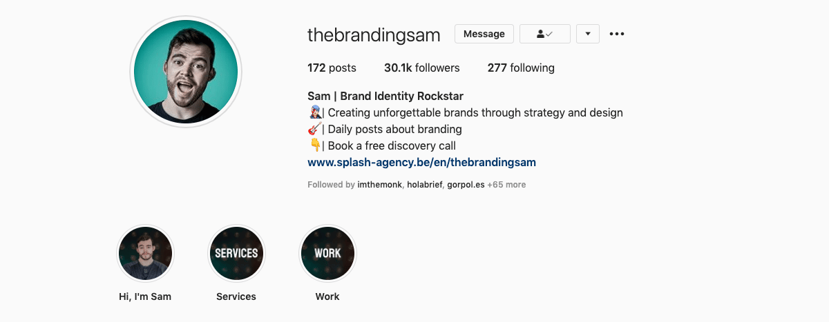 @thebrandingsam on Instagram