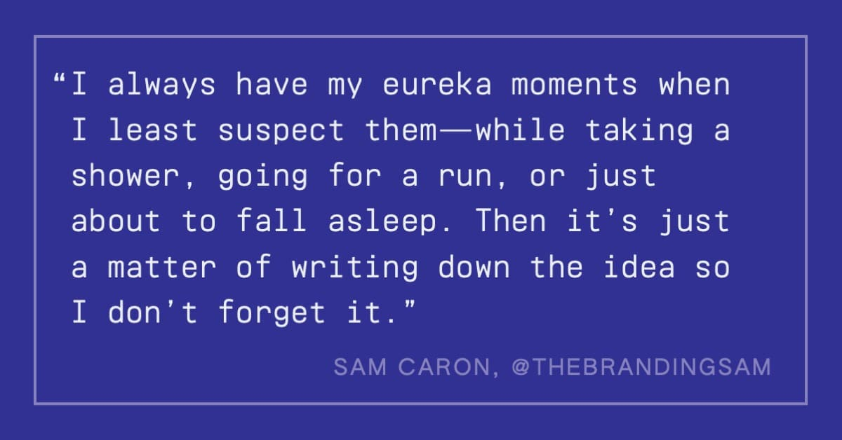 Sam Caron quote