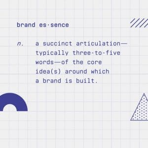 Brand essence definition