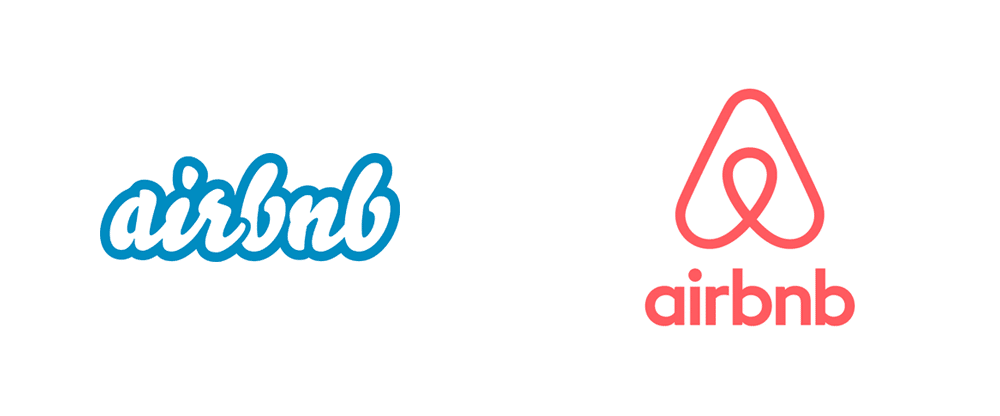Airbnb rebrand; image from Brand New