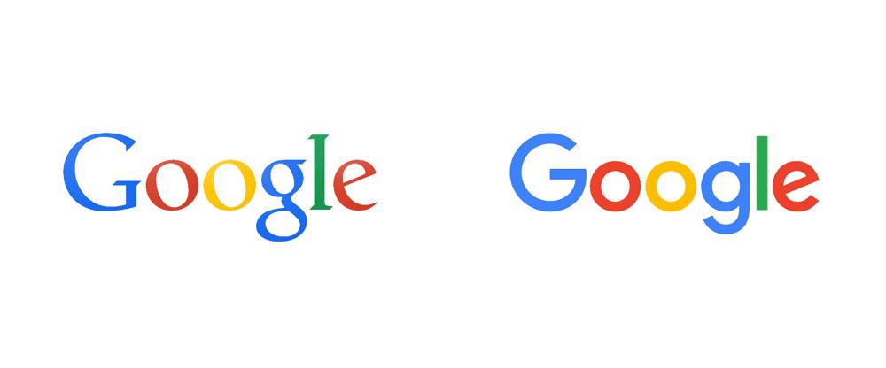 Google rebrand; image from Brand New