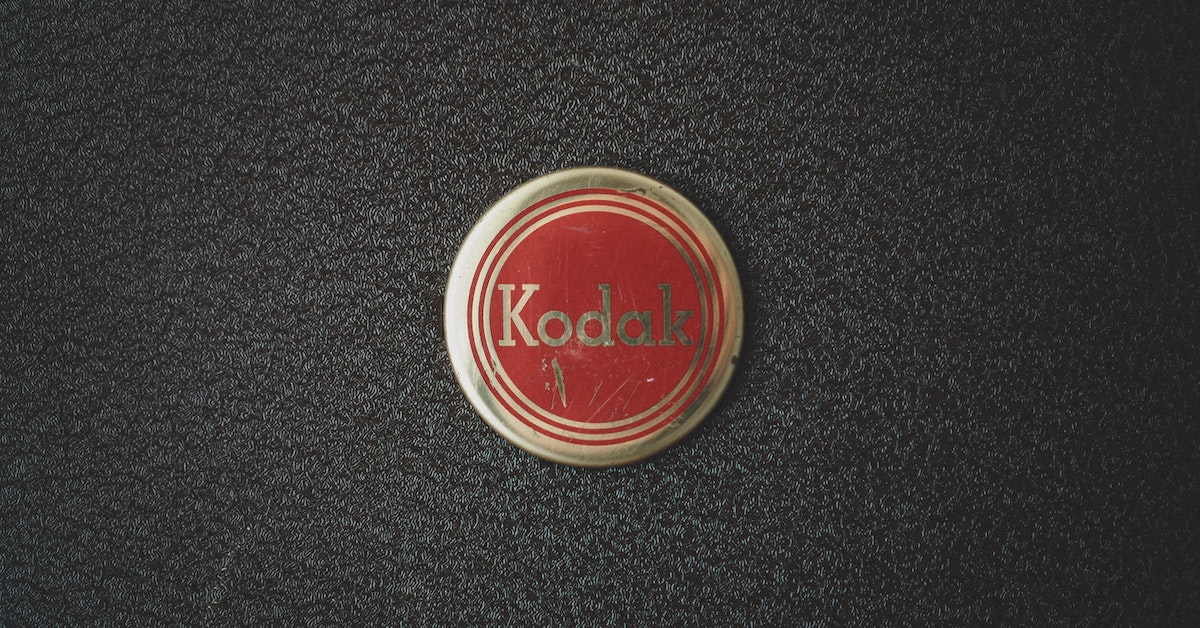 Kodak uses elements of a logo like color, typeface