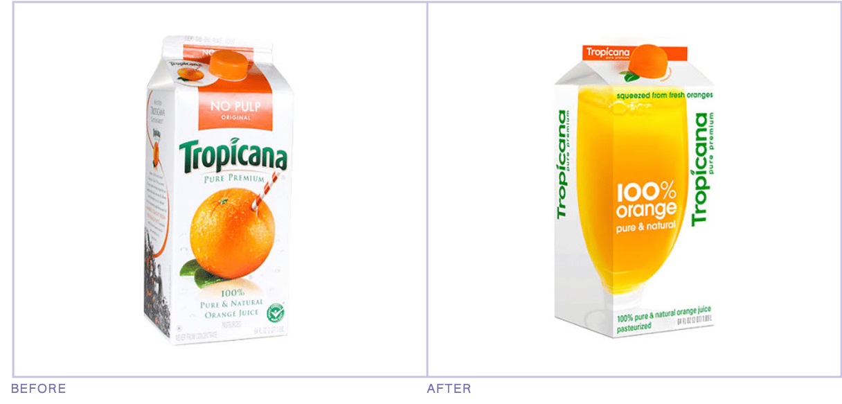 Tropicana packaging redesign mistake