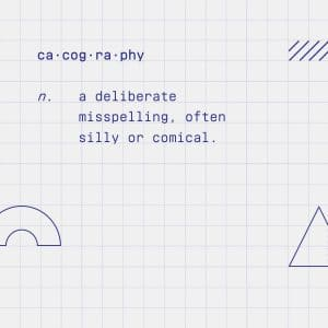 Cacography definition