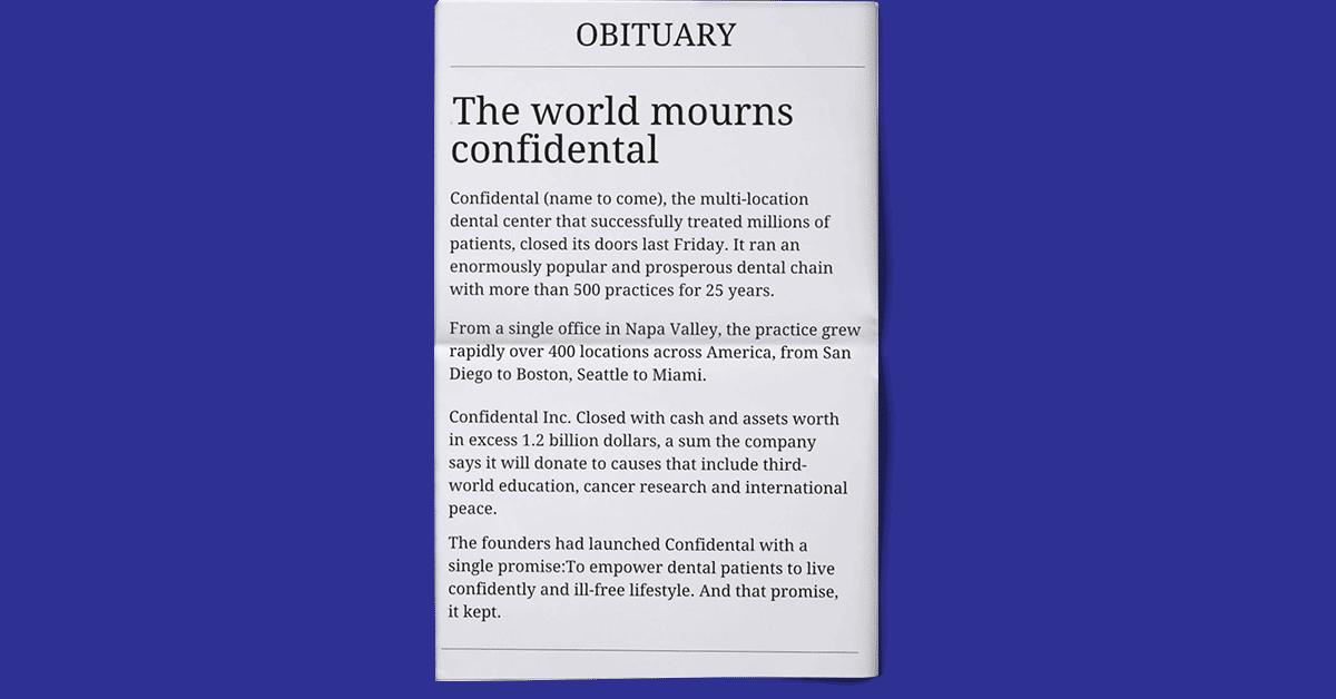 Sample Brand Obituary