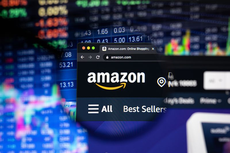 Build Your Brand on Amazon on a website with stock data Image