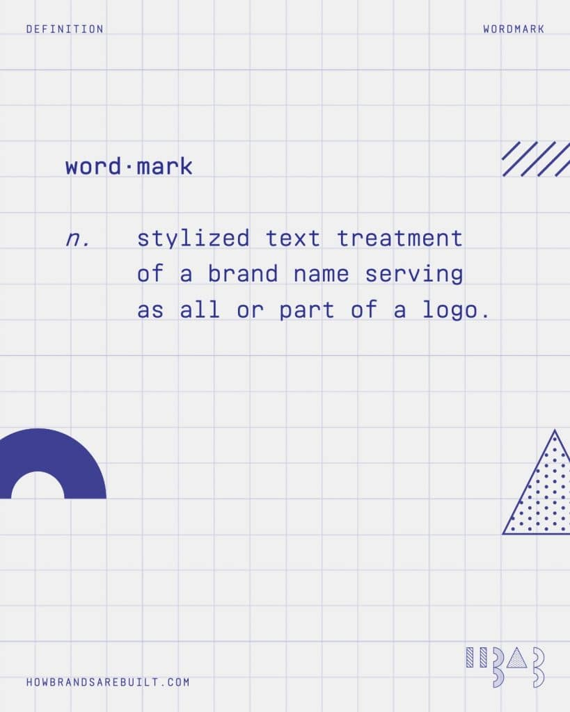 "Definition of ""wordmark"""