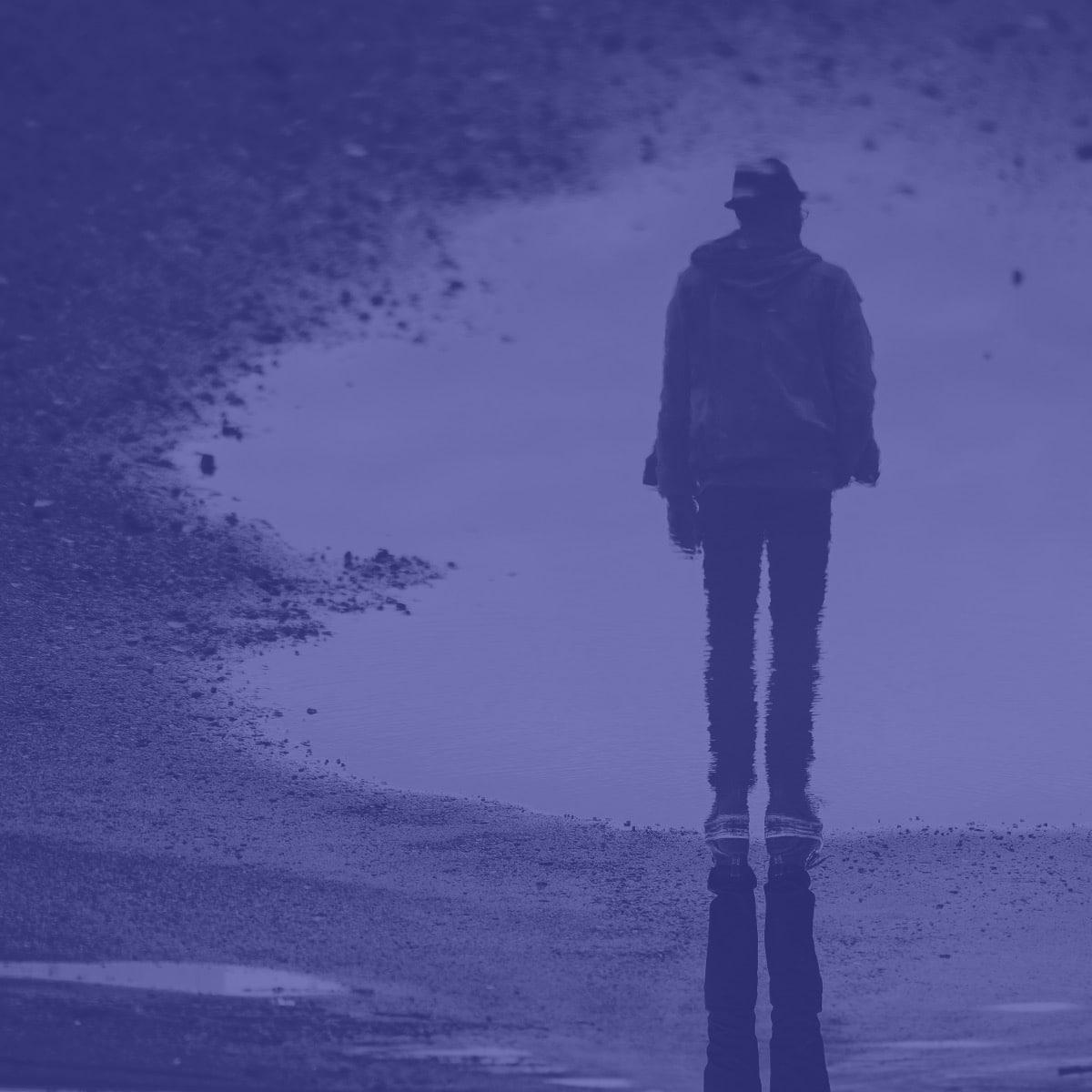 Reflection man