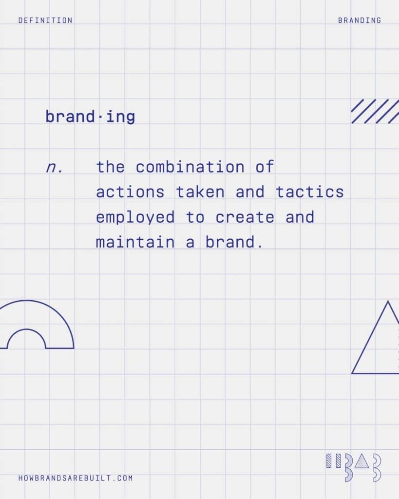 "Definition of ""branding"""
